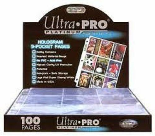 ULTRA PRO PLATINUM 100 9 POCKET PagesNew Free Shipping