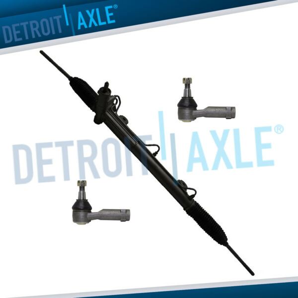 Complete Rack and Pinion 2 NEW Outer Tie Rod Ends for Ford Lincoln Trucks 4WD $208.05