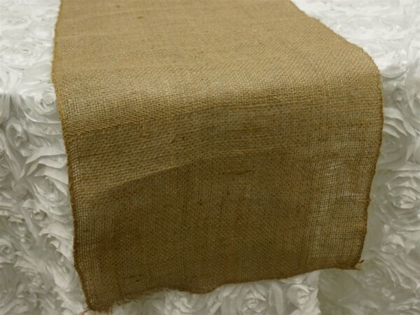 Burlap Table Runners 14quot;W x 108quot;L Made USA Wholesale Wedding Tablerunner Fabric