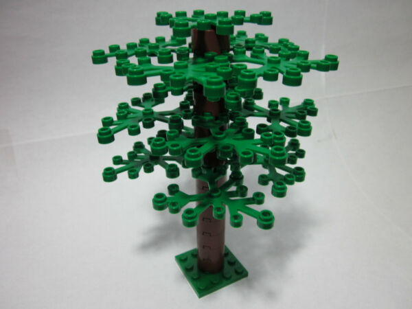 Custom tree for LEGO with medium trunk amp; 15 green leaves FREE shipping
