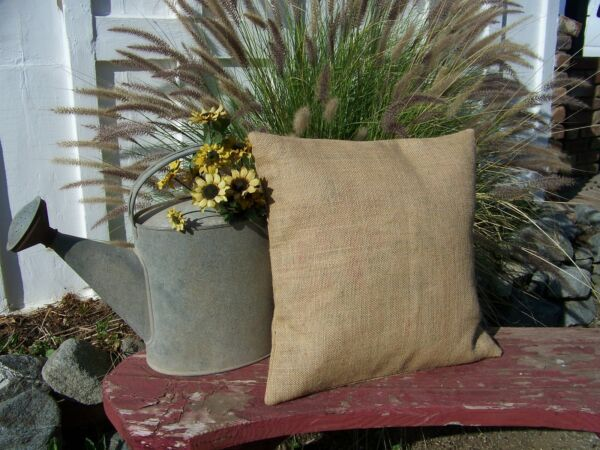 lot of 8 Burlap Pillow 20x20 Throw Decorative French Country Farmhouse covers