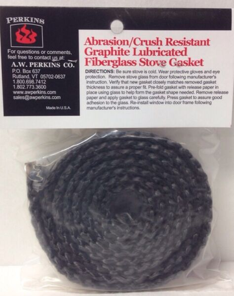 Perkins 130 Black Self-adhesive Wood Stove Window Gasket 1116 x 316 x 54