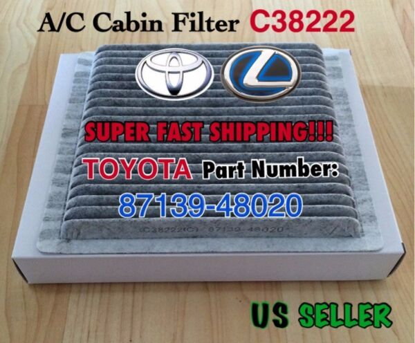 CARBONIZED CABIN FILTER For Lexus IS300amp;RX300 And TOYOTA 01 07 Highlander $8.00