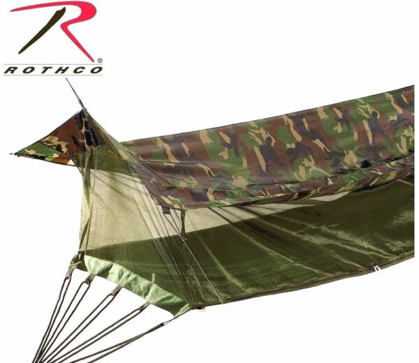 Camouflage Military Style Jungle Hammock Mosquito Netting Screen amp; Rainfly 2365 $70.99