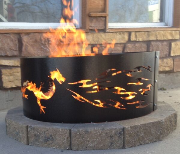 DRAGON Fire Ring outdoor living fire pit
