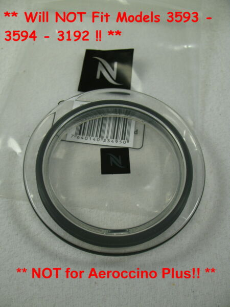 Nespresso Aeroccino 3 Citiz & Milk Frother Steamer Replacement Lid & Gasket NEW