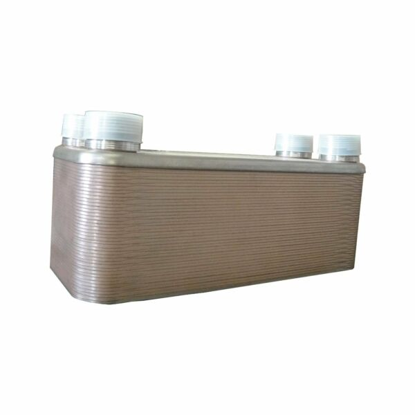 OUTDOOR WOOD FURNACE BOILER BRAZED PLATE HEAT EXCHANGER 30 Plate 1 1 4quot; PORTS $134.00