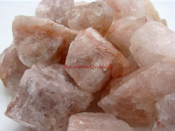 Natural FIRE QUARTZ Gemstone Rough - 1 Lb Lots Great for Tumbling or Cabbing