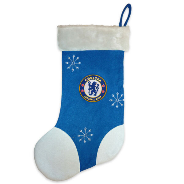 Chelsea Football Club Official Soccer Gift Xmas Christmas Santa Stocking Blue