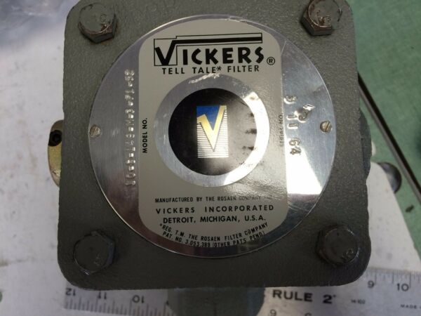 NEW VICKERS T10-S-149-M-3-P1-52 ELL TALE FILTER WSIDE IND LEVERSIGHT GLASS AO