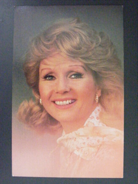 Debbie Reynolds Actress Cinema Movie Star Singer Dancer Color Chrome Postcard
