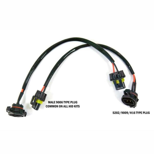 HID Wire Harness Cable Ballast to Socket Plug 5202 2504 9009 Two Pieces