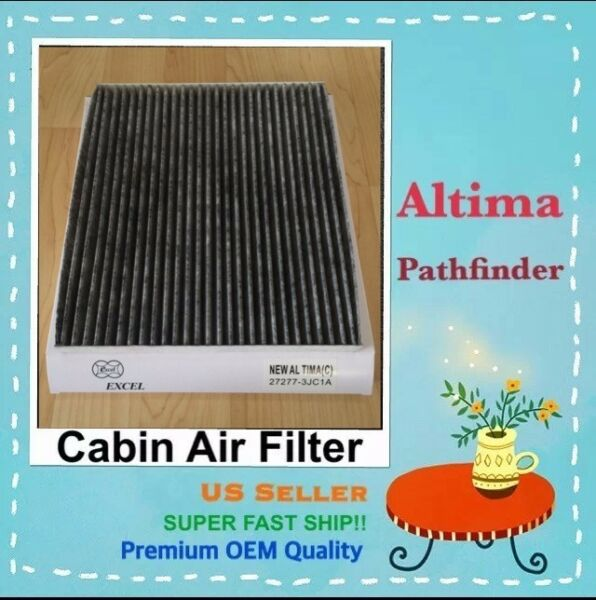 Carbonize Cabin Air Filter For New NISSAN Altima Pathfinder Murano 27277 3JC1A $9.00