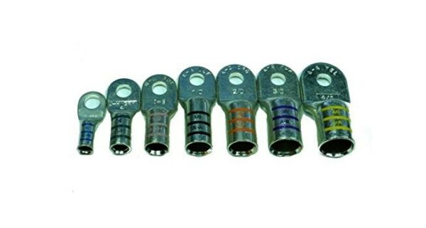Marine Battery Cable Terminals - Tin Plated Heavy Duty FTZ Power Lugs