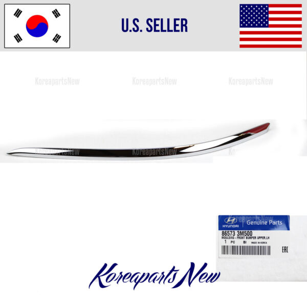 MOLDING FRONT BUMPER LEFT SIDE UPPER 865733M500 HYUNDAI GENESIS SEDAN 2012-2014