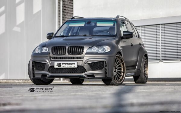 BMW E70 X5 FULL WIDE BODY KIT FRONTREAR BUMPER VENTED HOOD LIP SPOILER FLARES M