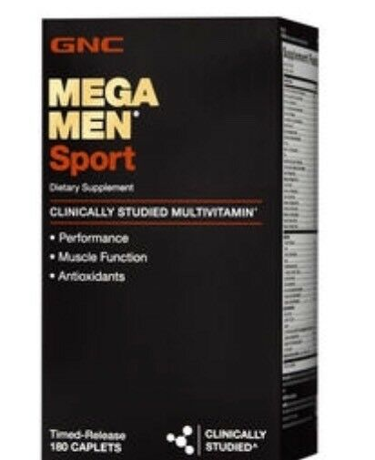 GNC MEGA MEN SPORT Dietary Supplement 180 cap FREE ASAP SHIPPING!