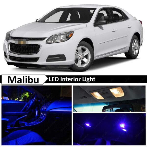 Blue Interior LED Lights Package Kit for 2013-2015 Chevy Malibu