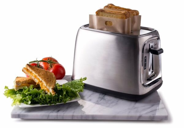 Quiseen Sandwich Toaster Toastabags, Grilled Cheese Sandwich - 2 Bags Reusable