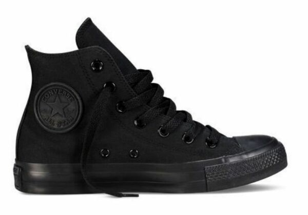 Converse Chuck Taylor Star Black Mono Mens Womens Shoes Hi Top Sneakers 4 - 13