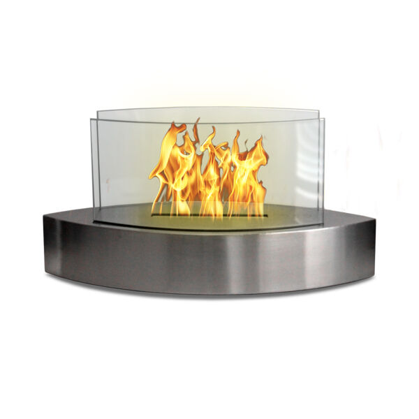 Anywhere Lexington Table Fireplace Stainless Steel Ethanol Fuel Indoor Outdoor