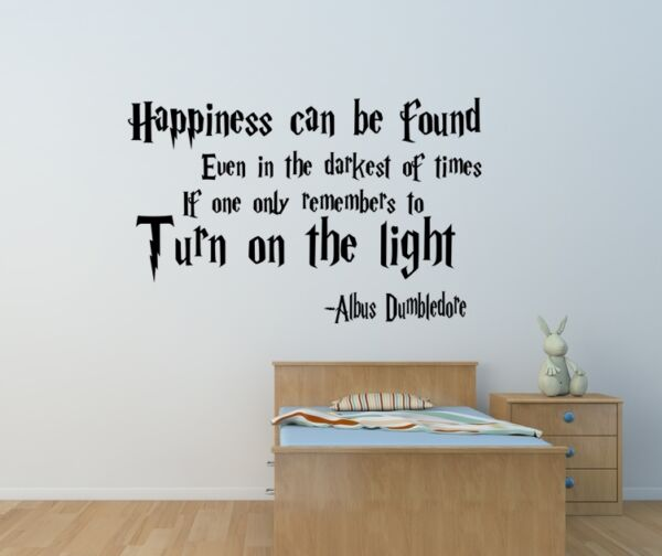 Harry Potter happiness can be found wall art sticker Home bedroom playroom diy GBP 12.00