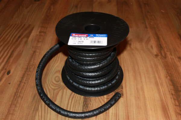 5 16quot; FUEL LINE HOSE 25 FT ROLL THERMOID 24078 GAS E 85 BIO DIESEL USA MADE NEW $24.89