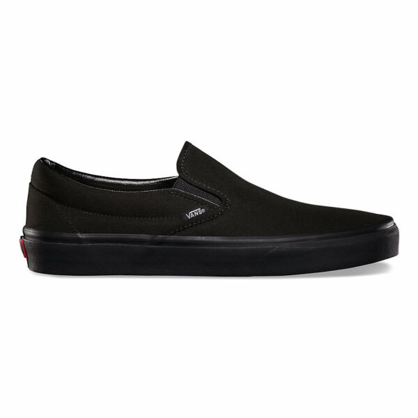 Vans Slip-On BlackBlack Canvas Classic Shoes All Size Fast Shipping