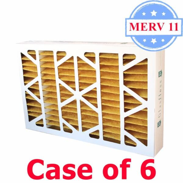 16x25x4 Air Filter MERV 11 Pleated by Glasfloss - Box of 6 - ACFurnace Filters