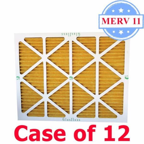 16x25x2 Air Filter MERV 11 Pleated by Glasfloss - Box of 12 - ACFurnace Filters
