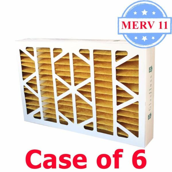 20x25x4 Air Filter MERV 11 Pleated by Glasfloss - Box of 6 - ACFurnace Filters