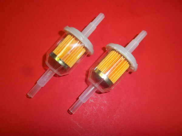 2 PACK CLEAR INLINE FUEL FILTER 14