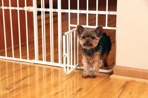 Pet Dog Gate Puppy Cat Door Expandable Barrier Animal Fence Indoor Safety Lock $46.19