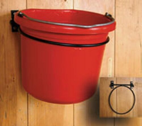 (6) Scenic Road Mfg # SR250 Wall Mount Fold Down Feed & Water Pail Ring Holders