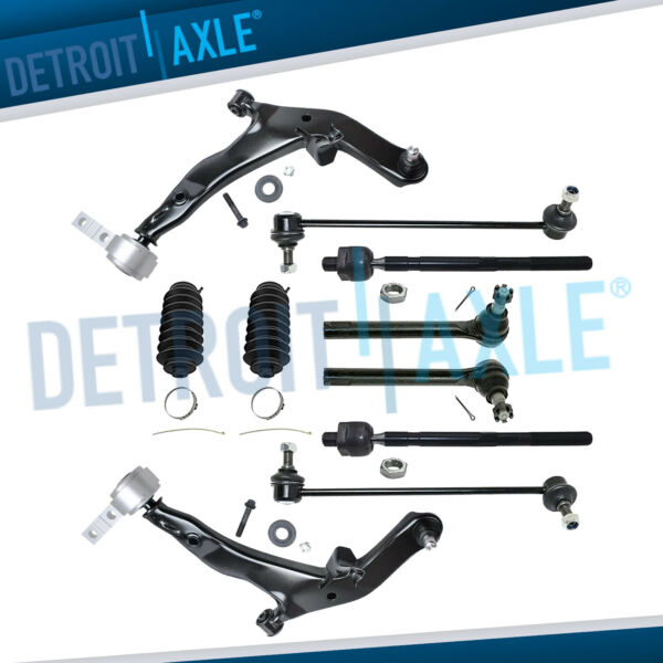 Front Lower Control Arm Tie Rod Sway Bar Link for 2005 2006 2007 Nissan Murano
