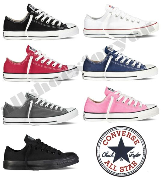 Converse All Star Chuck Taylor Canvas Shoes Low Top All Sizes Free Shipping