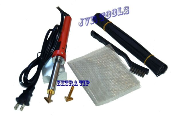 80 Watt Iron PLASTIC WELDING KIT TPO TEO PP Rod Mesh Auto Car Welder Repair Kit