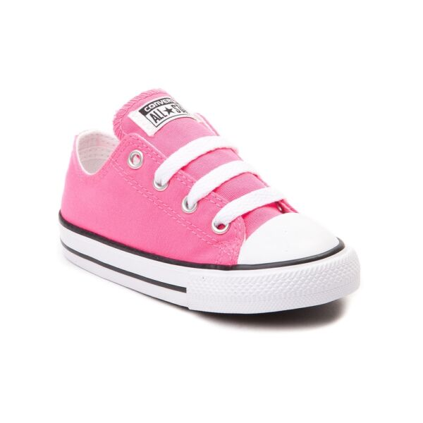 Converse All Star Low Chucks Infant Toddler Pink Canvas Shoe 7J238 Free Shipping