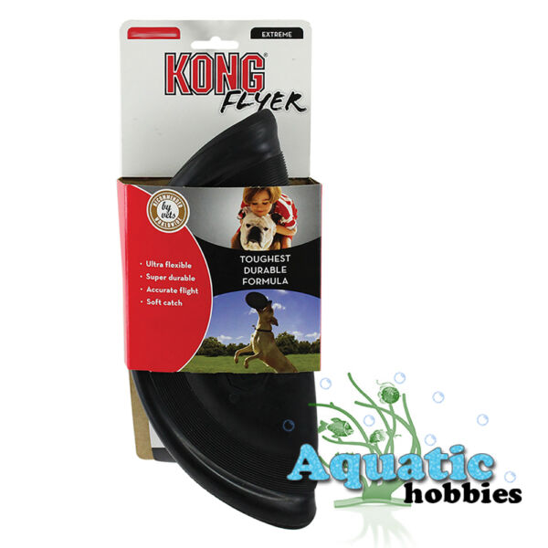 Kong Extreme Flyer Large Toy For Dog Puppy Fetch Frisbee Disc Soft Rubber Lg