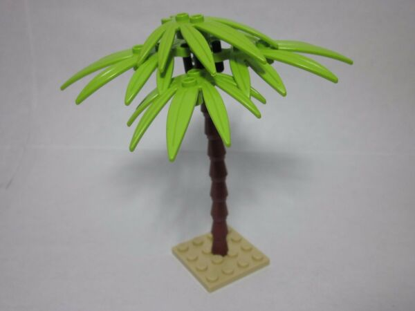 Custom forest palm tree for LEGO lime green sword leaves all new parts