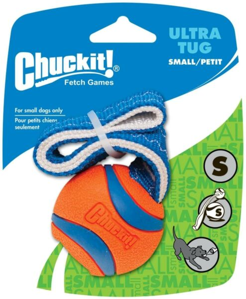Chuckit Ultra Ball Tug small 4.8cm Toy Durable Dog Puppy Play Pull Fetch Throw