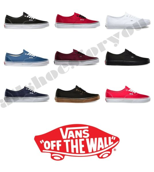 VANS CLASSIC AUTHENTIC NEW Sizes 4 13 Canvas Free Fast Shipping $47.85