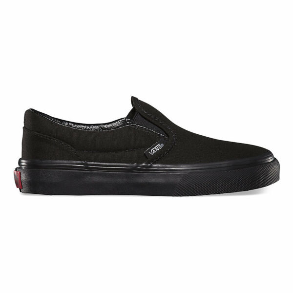 VANS Classic Slip On Black/Black Shoes Kids Youths Boys Sneakers Free Shipping
