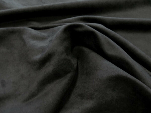 MICROSUEDE Faux Black Suede Fabric Upholstery 58quot; Wide By the Yard