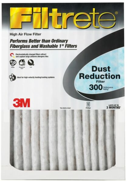 16x25x1 Filtrete Dust Reduction Furnace Filter Air Filter MERV 7 Pk 6 by 3m