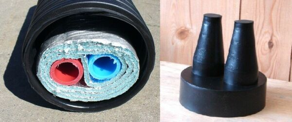 1quot; 100#x27; Insulated Outdoor Furnace Oxygen Barrier 3 Wrap PEX Pipe $607.00