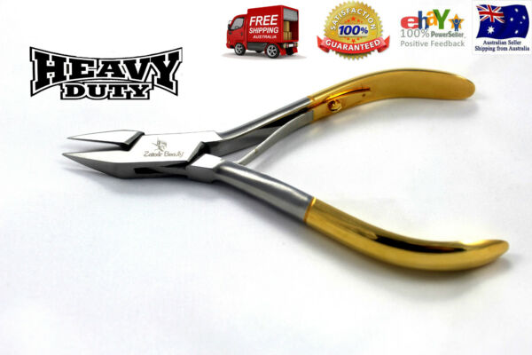 Half Gold Plated Nail Cutter Clipper Steel Heavy Podiatry Manicure Pedicure Tool