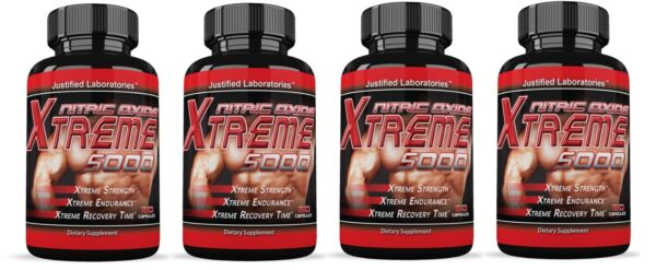 4 x  Xtreme 5000 Extreme Arginine Nitric Oxide Strength Endurance Recovery