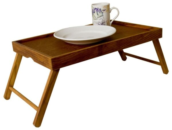 Home Basics NEW Pine Wood Foldable Bed Serving Tray Table Breakfast - BT01124