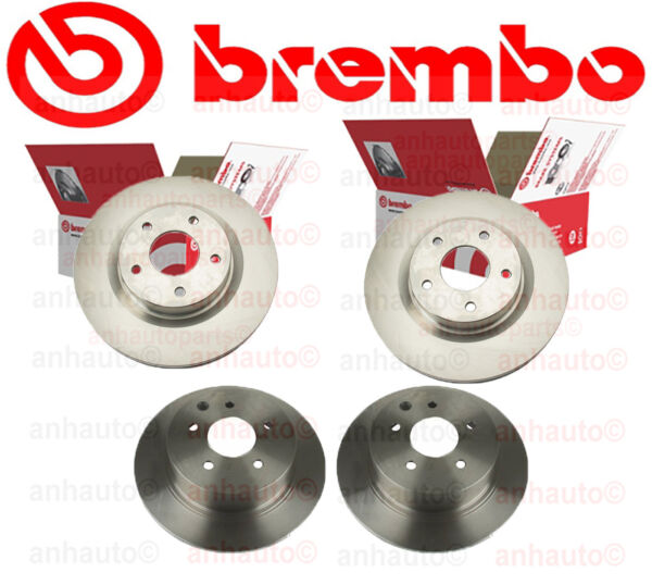 SET of 4 BREMBO Brake Rotors   2-Front & 2-Rear for  NISSAN  Altima